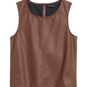 New Banana Republic Vegan Leather Top, S